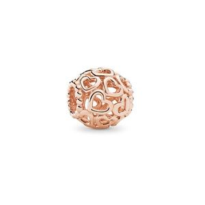 pandora rose gold charm open your heart filigree
